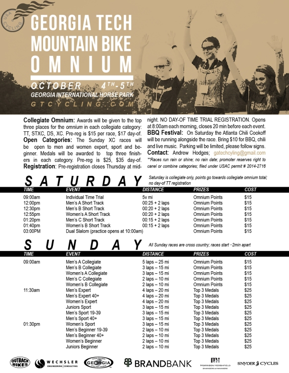 2014 Mountain Bike Omnium Flyer